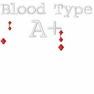 Blood Type A+ Embroidered Tee