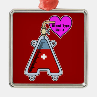 Blood type A Metal Ornament