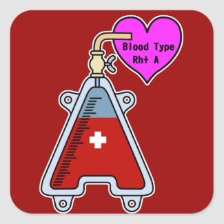 Blood type A Stickers