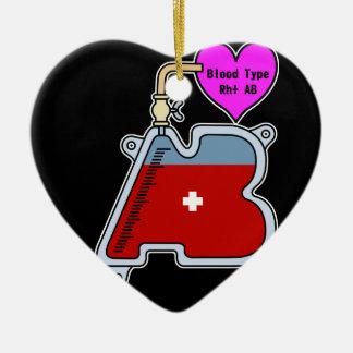 Blood type AB Ceramic Ornament