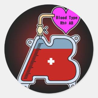 Blood type AB Classic Round Sticker