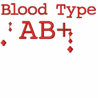 Blood Type AB+ Embroidered T-shirt
