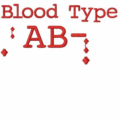 Blood Type AB- Embroidered T-shirt