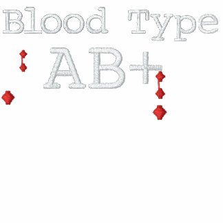 Blood Type AB+ Embroidered Tee