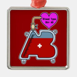 Blood type AB Metal Ornament