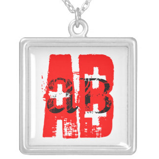 Blood Type AB +   Necklace