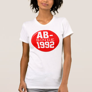 """Blood type """"AB-"""" Since """"your date of birth"""" Tee Shirt"""
