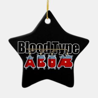 Blood type All Ceramic Ornament