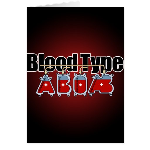 Blood type All Greeting Card