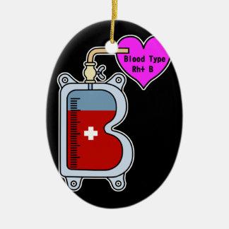 Blood type B Ceramic Ornament