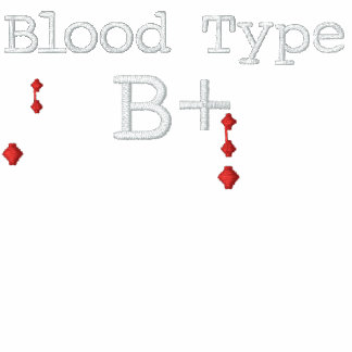 Blood Type B+ Embroidered Tee