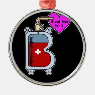 Blood type B Metal Ornament