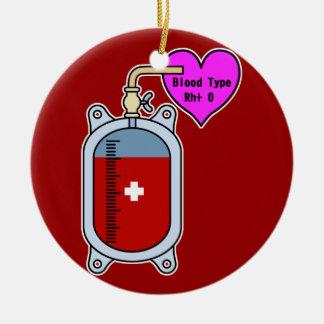 Blood type O Ceramic Ornament