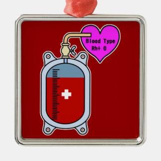 Blood type O Metal Ornament