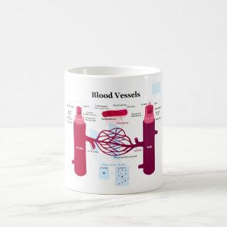 Blood Vessels Arteries Capillaries Veins Diagram Coffee Mug
