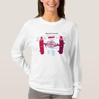 Blood Vessels Arteries Capillaries Veins Diagram T-Shirt
