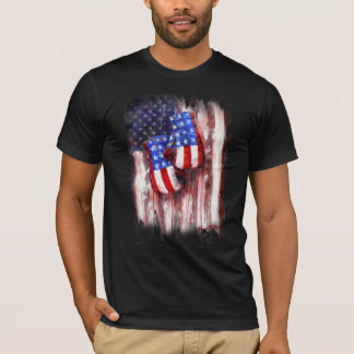 Blood, White, and Blue (American Boxing Tradition) T-Shirt