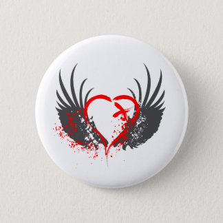 Blood Wings - Emo, Rock, goth, alternative, grunge Button