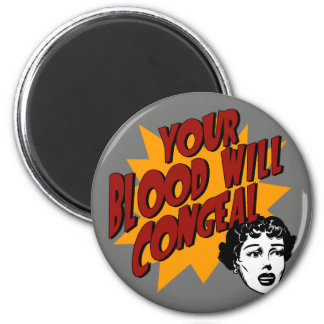 Blood with Congeal 2 Inch Round Magnet