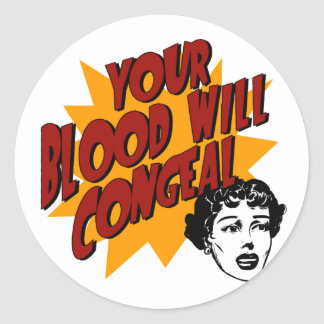 Blood with Congeal Classic Round Sticker