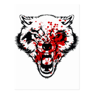 Blood Wolf Postcard