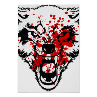 Blood Wolf Poster