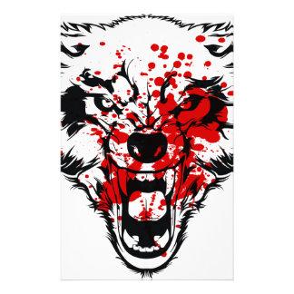 Blood Wolf Stationery