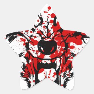 Blood Wolf Star Sticker