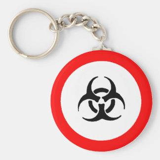 bloodborne pathogens basic round button keychain