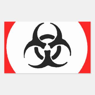 bloodborne pathogens rectangular sticker