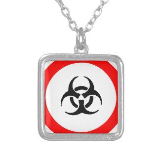 bloodborne pathogens square pendant necklace