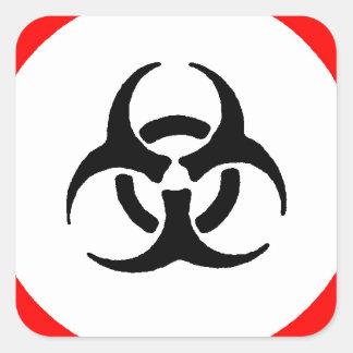 bloodborne pathogens square sticker