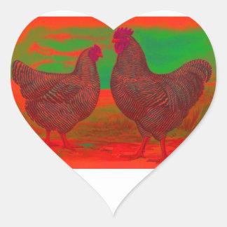 BloodFire Heart Sticker
