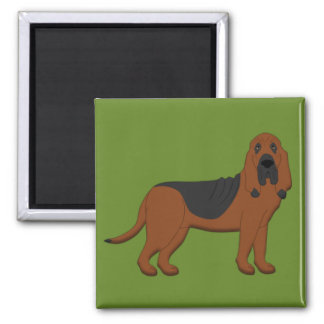 Bloodhound 2 Inch Square Magnet