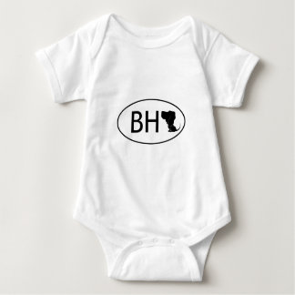 Bloodhound abbreviation BH Baby Bodysuit