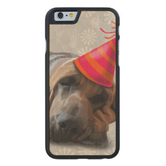 Bloodhound After the Party Carved® Maple iPhone 6 Case