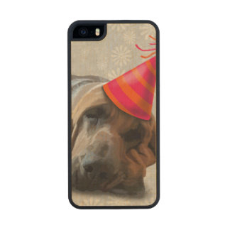 Bloodhound After the Party Wood iPhone SE/5/5s Case