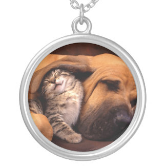 Bloodhound and Kitten Necklace