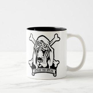 Bloodhound-Beware the Hound Two-Tone Coffee Mug