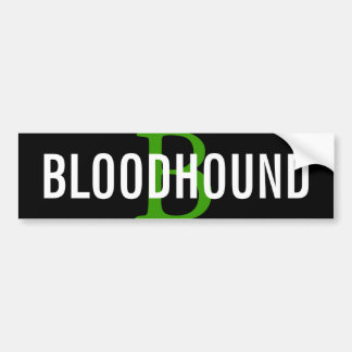 Bloodhound Breed Monogram Design Car Bumper Sticker