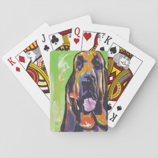Bloodhound Bright Colorful Pop Dog Art Deck Of Cards
