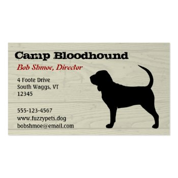 Blood Hound or Bloodhound Business Card Template