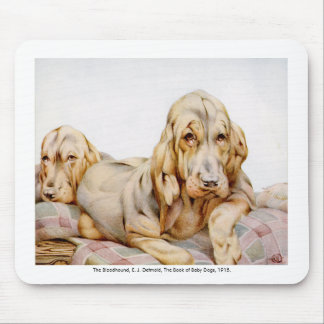 Bloodhound Children's Illustration Mousepad