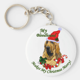 Bloodhound Christmas Gifts Keychain