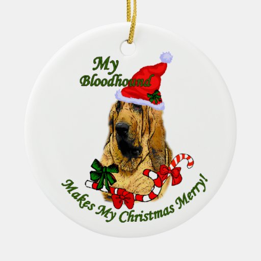 Bloodhound Christmas Gifts Ornament