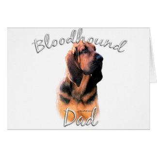 Bloodhound Dad 2 Greeting Card