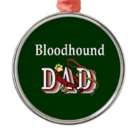 Bloodhound Dad Christmas Tree Ornaments