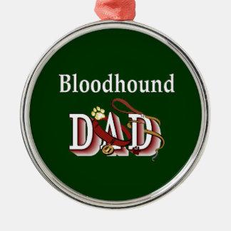 Bloodhound Dad Metal Ornament