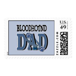 Bloodhound DAD Postage Stamp