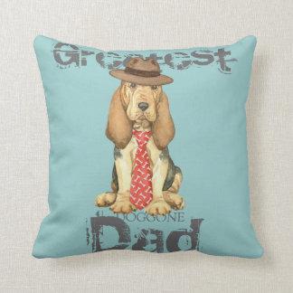 Bloodhound Dad Throw Pillow